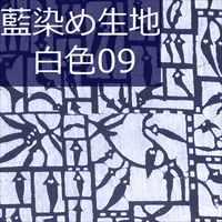 藍染め生地 白09「百辛子」